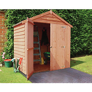 Wickes Double Door Overlap Apex Shed 6x4