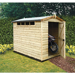 Wickes Security Apex Shed 8x6ft
