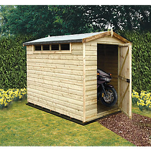Wickes Security Apex Shed 8x10