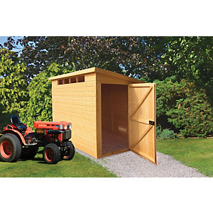 Wickes Security Pent Shed 8x6