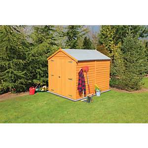 Wickes Double Door Overlap Shed Without Window 8x6