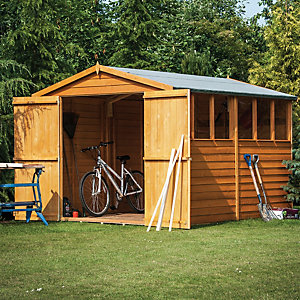 Wickes Double Door Overlap Shed 8x12