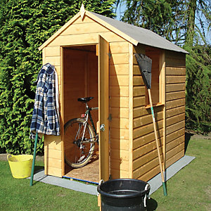 Wickes Small Shiplap Garden Shed 4x6