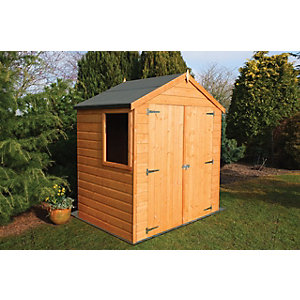 Wickes Small Double Door Shiplap Shed 6x4