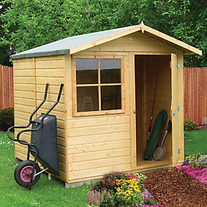 Wickes Abri Decorative Garden Shed 7x7