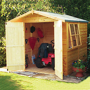 Wickes Shiplap Apex Storage Building - 2 Doors 7x7