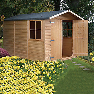 Wickes Shiplap Apex Storage Building - 2 Doors & 2 Windows 7x10