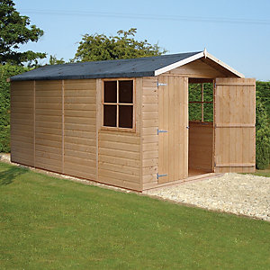 Wickes Shiplap Apex Storage Building - 2 Doors & 3 Windows 7x13