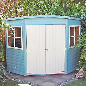 Wickes Shiplap Corner Shed - 2 Doors & 2 Windows 10x10