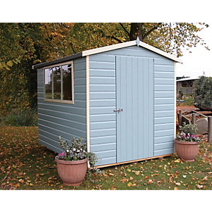 Wickes Easy to Assemble Shiplap Shed Apex Tongue & Groove Floor & Roof 6x8