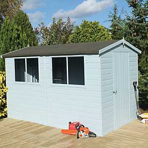 Wickes Easy to Assemble Shiplap Shed Apex Tongue & Groove Floor & Roof 10x8