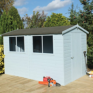 Wickes Easy to Assemble Shiplap Shed Apex Tongue & Groove Floor & Roof 10x10