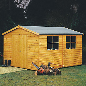 Bison Shiplap Double Doors Workshop 16x10