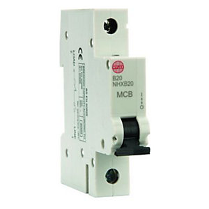Wylex Type B Miniature Circuit Breaker 20 Amp