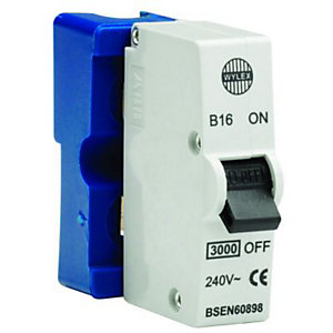 Wylex Type B Plug-In Mini Trip Circuit Breaker 16 Amp