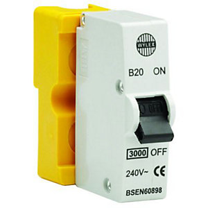 Wylex Type B Plug-In Mini Trip Circuit Breaker 20 Amp
