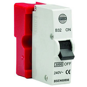 Wylex Type B Plug-In Mini Trip Circuit Breaker 32 Amp