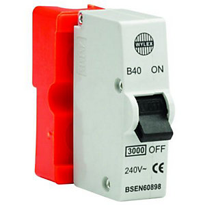 Wylex Type B Plug-In Mini Trip Circuit Breaker 40 Amp