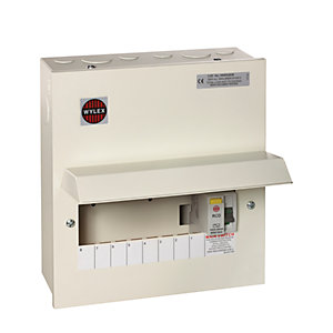 Wylex 8 Way RCD C/Unit with 100A RCD GB6:WKNMRS806