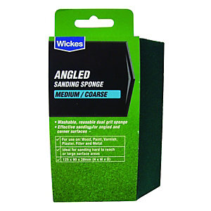 Wickes Angled Sanding Sponge Medium/Coarse