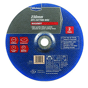 Wickes Masonry DPC Cutting Disc 230mm Pack 2