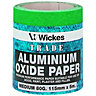Wickes Aluminium Oxide Sandpaper Roll Medium 5m