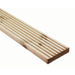 Wickes Premium Treated Pine Decking Board 2.4m
