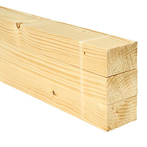 Wickes Whitewood PSE 44x69x2400mm Pack 3