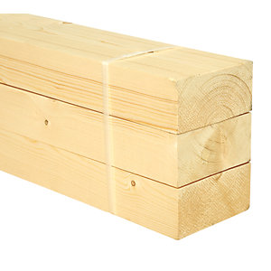 Wickes Whitewood PSE 44x94x2400mm Pack 3