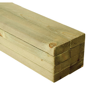 Wickes Treated Sawn 22 x 47 x 1800mm Pack 8