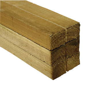 Wickes Treated Sawn 47x47x2400mm Pack 6