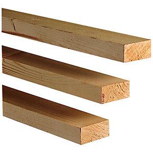 Wickes Whitewood PSE 20x44x2400mm Pack 8