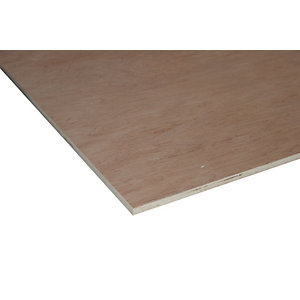 Wickes Non Structural Hardwood Plywood 3.6 x 606 x 1220mm