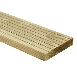 Wickes Decking Board 25 X 120mm X 2.4m