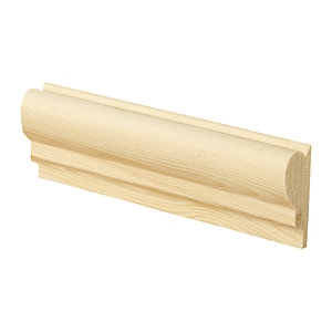 Wickes Pine Picture Rail 20 x 44 x 2400mm Pack 4