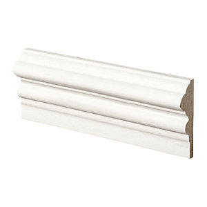 Wickes Pre Primed MDF Dado Rail 18 x 58 x 2400mm Pack 4