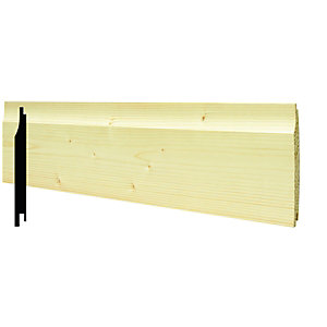 Wickes Softwood Shiplap Cladding 12x121x2400mm Single