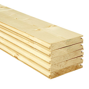 Wickes PTG Floorboards 18x121x3000mm Pack 5