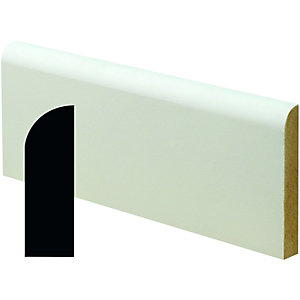 Wickes Pre Primed MDF Large Round Architrave 14x44x2400mm Pack 5