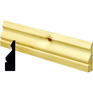 Wickes Pine Ogee Architrave 19x69x2100mm Pack 5