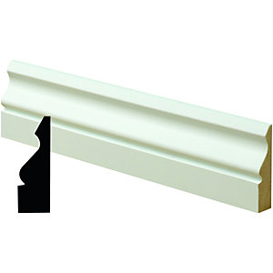 Wickes Pre Primed MDF Ogee Architrave 14x58x2400mm Pack 5