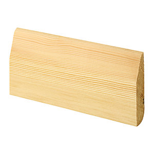 Wickes Dual Purpose Chamfered/Bullnose Pine Skirting 15x69x2400mm Pack 8