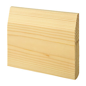 Wickes Dual Purpose Chamfered/Bullnose Pine Skirting 15x119x2400mm Sng