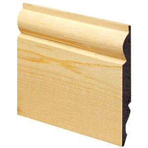 Wickes Dual Purpose Torus/Ogee Pine Skirting 19x219x3600mm Pack 2
