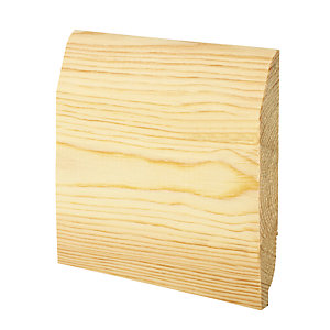 Wickes Dual Purpose Chamfered/Ovolo Pine Skirting 20.5x144x2400mm Pack 4