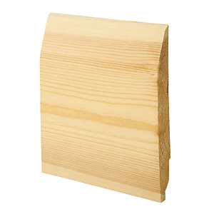 Wickes Dual Purpose Chamfered/Ovolo Pine Skirting 20.5x169x2400mm Pack 4