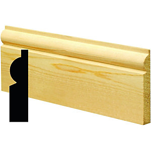 Wickes Torus Pine Architrave 19x57x2100mm Sng