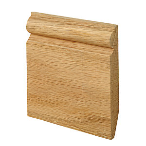 Wickes Dual Purpose Chamfered/Torus Oak Skirting 19 x 144 x 2400mm sng