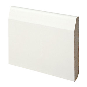 Wickes Dual Purpose Chamfered/Bullnose MDF Skirting 14.5x119x2400mm Pack 4