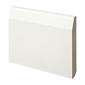 Wickes Dual Purpose Chamfered/Bullnose MDF Skirting 14.5x119x2400mm Sng